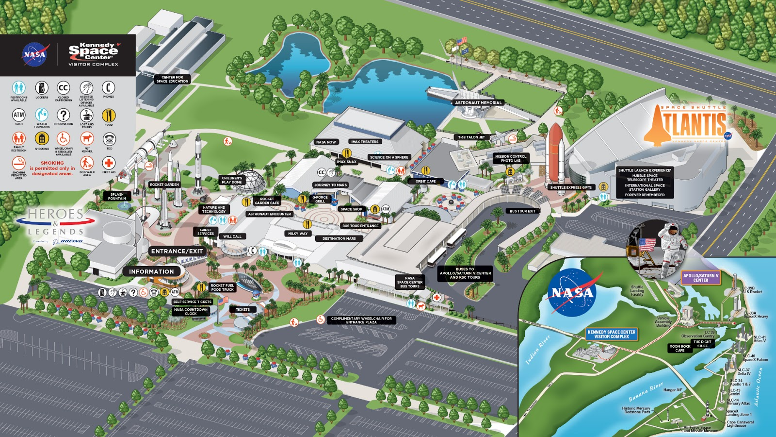 Mapa Kennedy Space Center