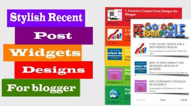 cara gampang membuat recent post keren blogger