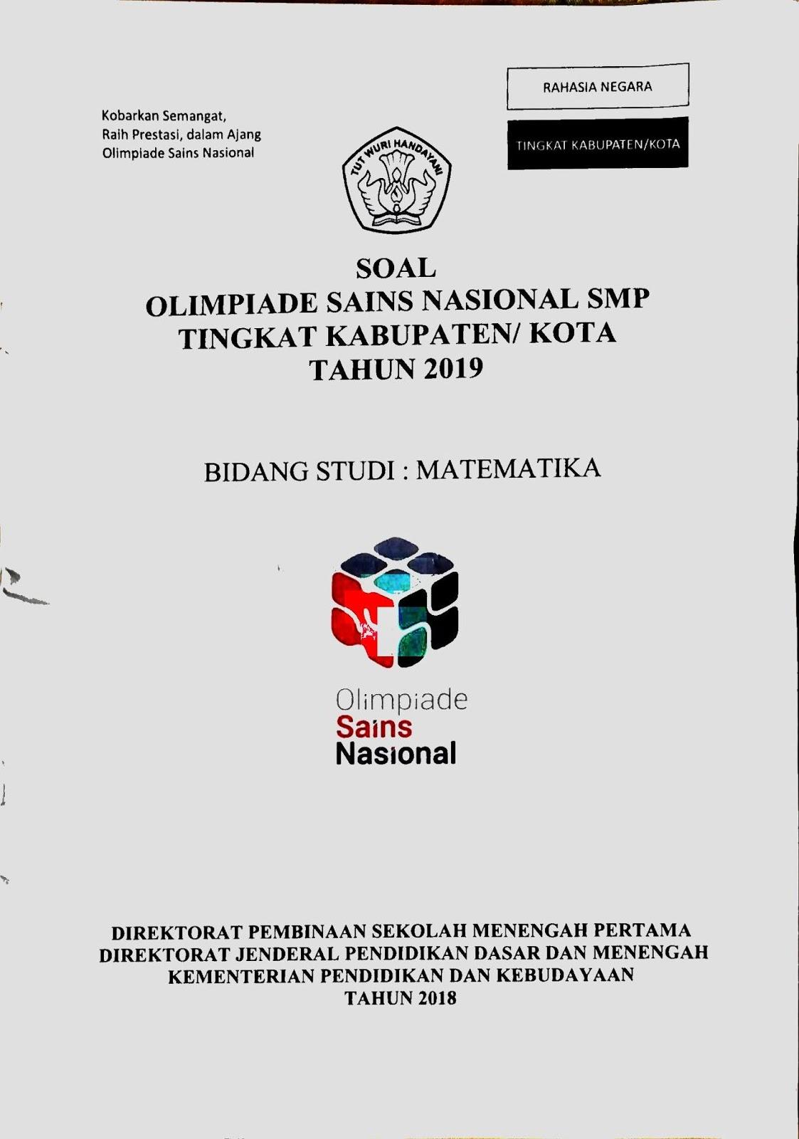 Contoh Soal Olimpiade Matematika Smp 2019 Kumpulan Soal Pelajaran 8