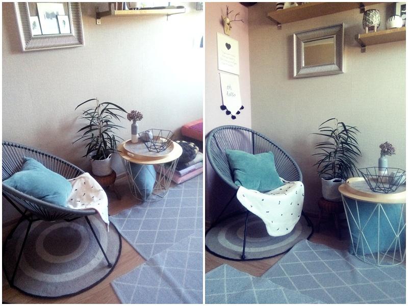 fotel ogrodowy w mieszkaniu