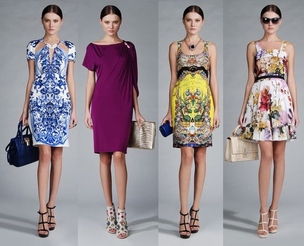 Roberto Cavalli Experiments Sharp And Soft Both Color Schemes In This Collection On Long Dresses Short
