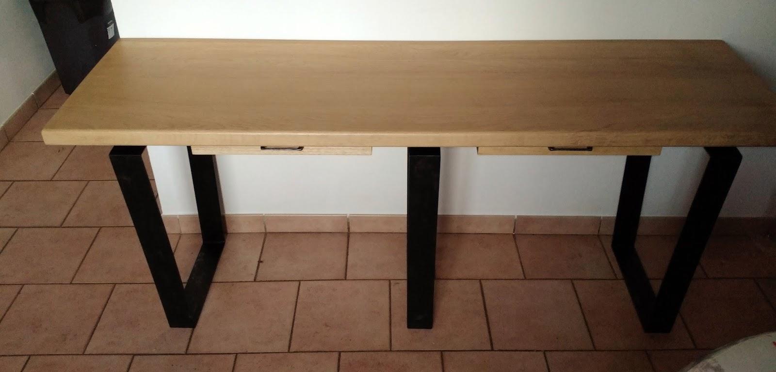 Bureau style industriel en m tal et bois for Bureau industriel ikea