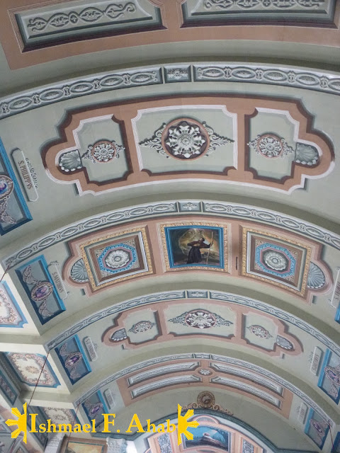 Nice painted ceiling of Nasugbu Church