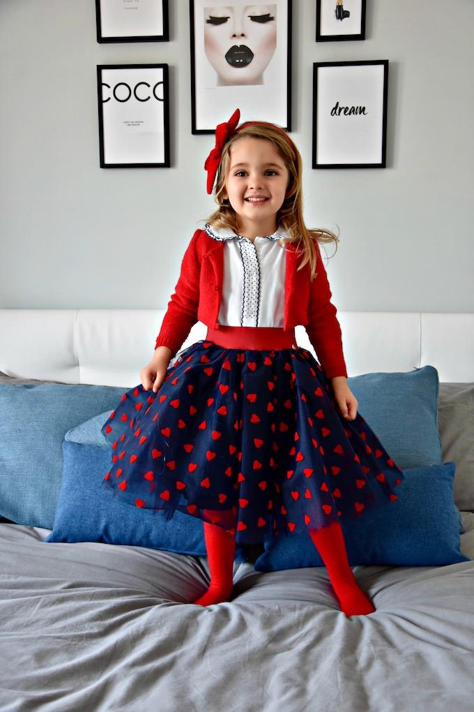 Hearts Princess: un MiniLook in blu e rosso