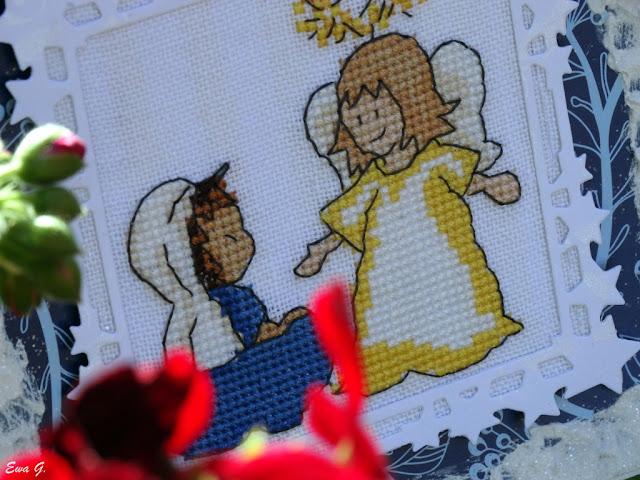 Imieniny miesiąca - kartka z aniołem