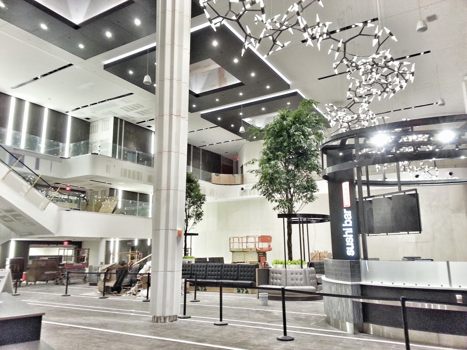 The Curtain Has Fallen At Spectacular New Dining Terrace Westfield Montgomery Mall In Bethesda One Tenant Sarku An Already Is Setting Up Its