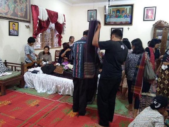 Suasana di Rumah duka di Kelurahan Martimbang.