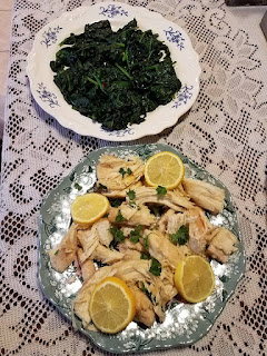 Lazy Chicken Scampi and Italian Spinach