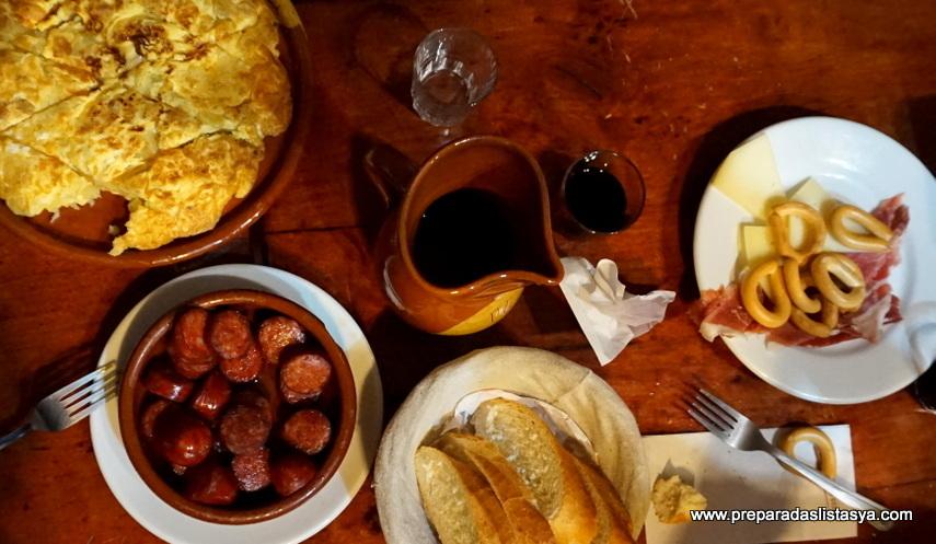 Cena típica española Madrid