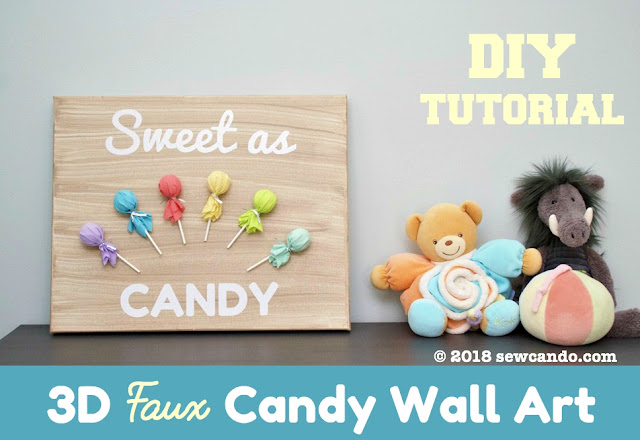 photo Sew Can Do 3d candy wall art