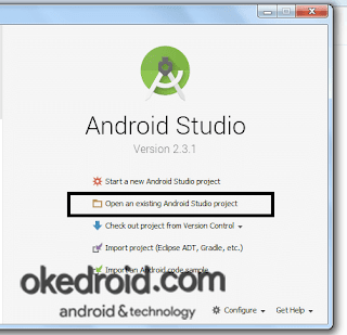 Open project existing cara pertama Android Studio