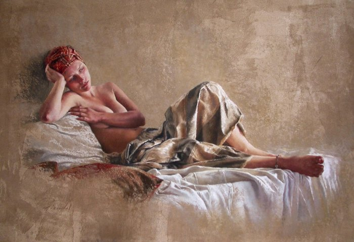 Женская натура в пастели. Nathalie Picoulet