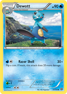 Dewott Steam Siege Pokemon Card