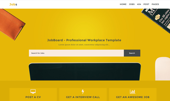 Blogger حصريآ قالب Jobs المعرب الإحترافي النسخة المدفوعة نقطة التطوير