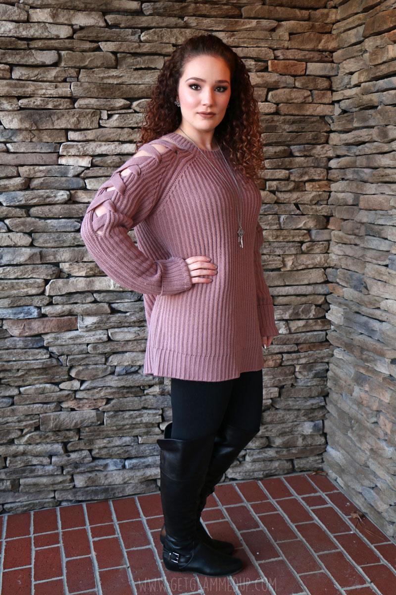 Tobi Miracle Lace Up Sweater Dress