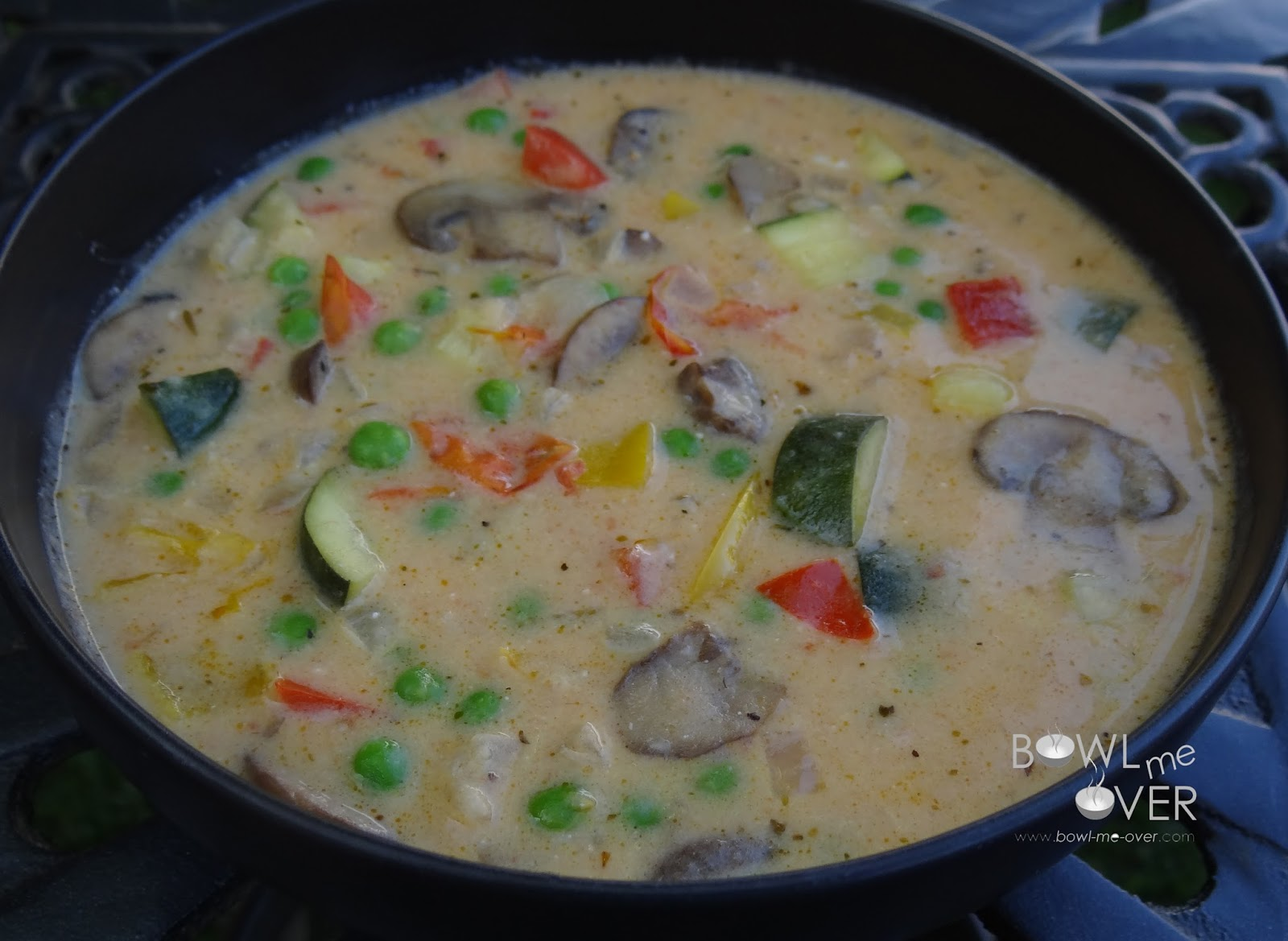 Cheesy Vegetable Soup, guest recipe from Souper Chef Deb at Bowl Me Over