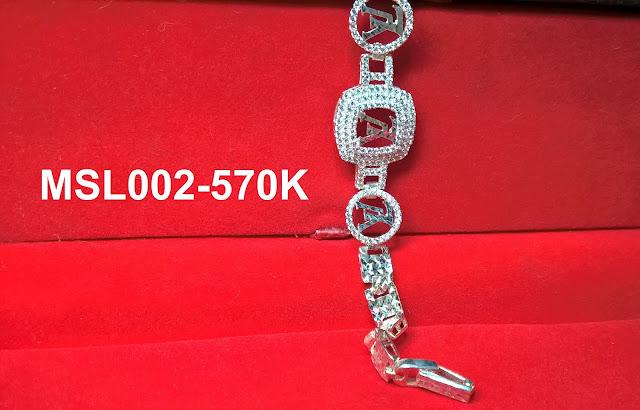 trangsuc.top - Lắc Tay Louis Vuitton Đính MSL002 - Giá: 570,000 VNĐ - Liên hệ mua hàng: 0906846366 (Mr.Giang)