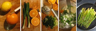 Gebratener Spargel mit Orangen-Joghurt-Sauce