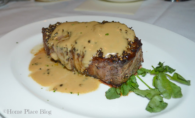 Capital Grille Steak au Poivre with Courvoisier Cream Sauce