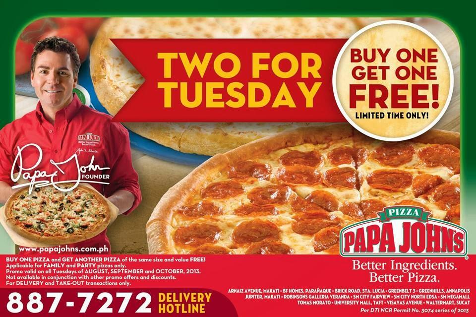 PAPA JOHN'S Pizza and Famous Garlic Butter Dip | Taft ...
