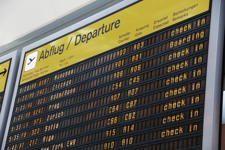 abflug departure check in