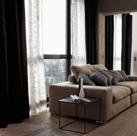 decoration salon avec rideau. Black Bedroom Furniture Sets. Home Design Ideas