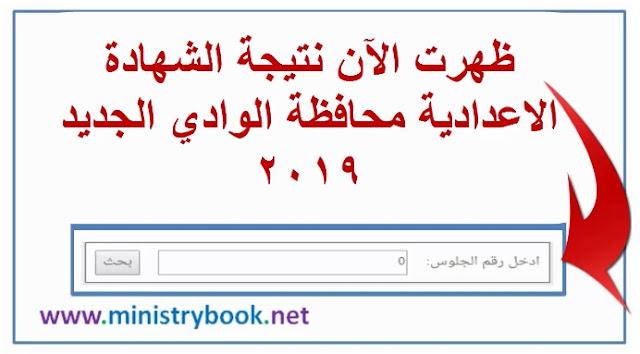 نتيجة الشهادة الاعدادية محافظة الوادي الجديد 2019