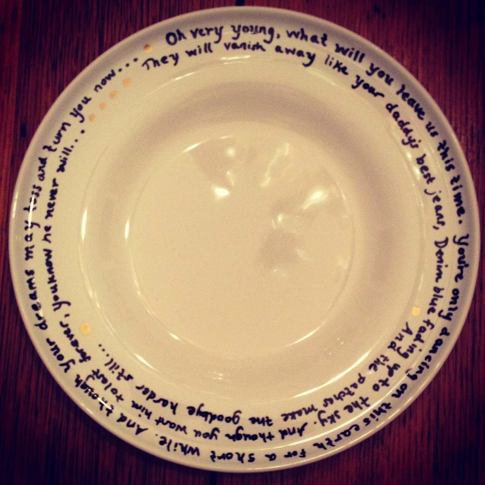 DIY Poetry Plates Great For Christmas Or Birthday Gifts