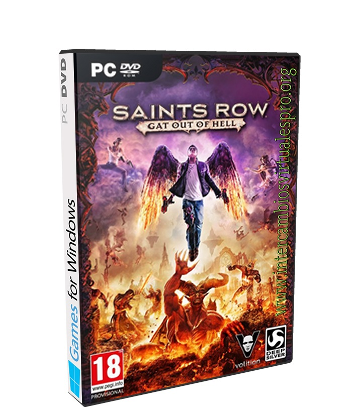 Saints Row Gat Out of Hell poster box cover
