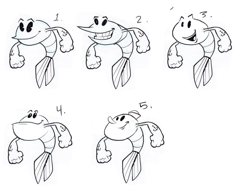 Jeff's Draw Blog: Shrimp Sketches 2