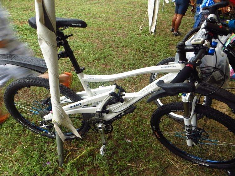 велосипед с двумя подвесками