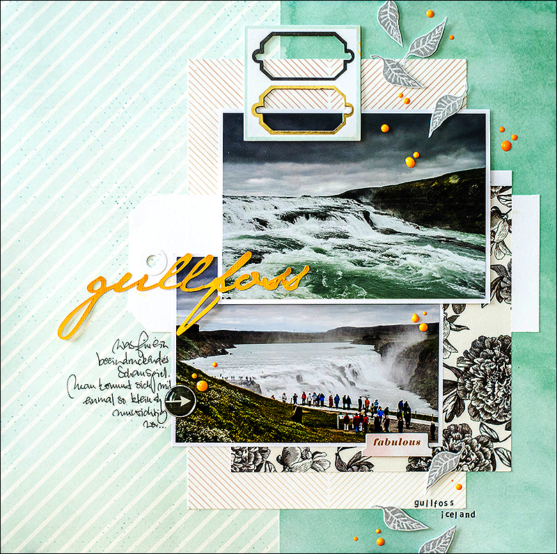 Stephanie Berger - Scrapbooking - Creative Scrappers - Gullfoss