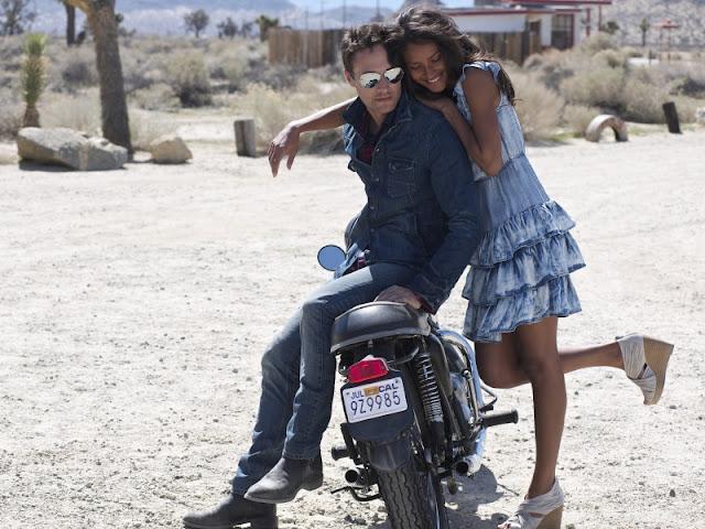Black girl riding white guy
