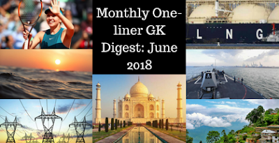 Monthly One-liner GK Digest: June 2018