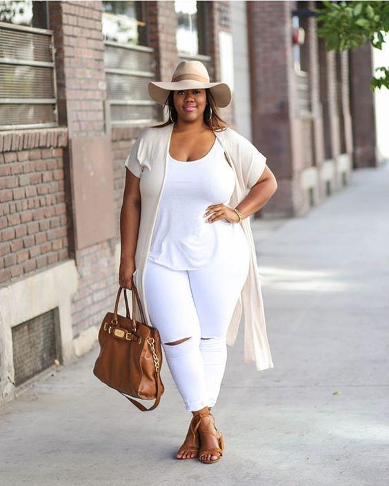 ae001829 Las gorditas podemos usar jeans blancos?