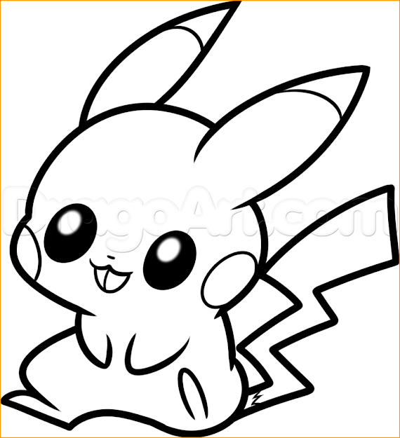Monday December Th   Am Maria Bennett Cute Baby Pikachu  Coloring Pages