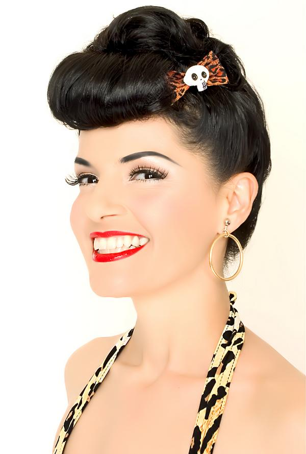 peinados con tocados - peinados pin up pelo largo