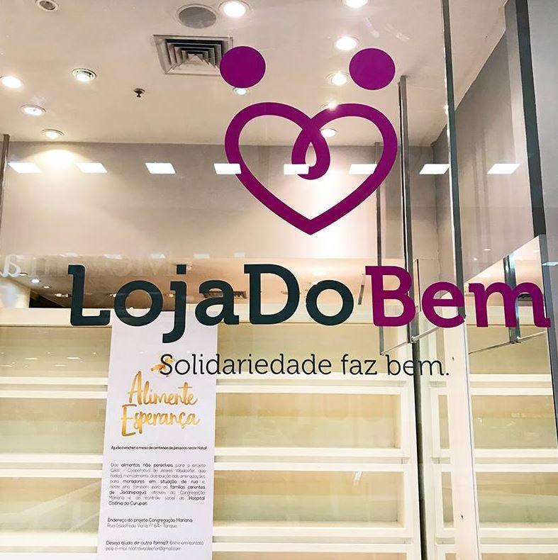 'Loja do Bem' do Center Shopping Rio arrecada doações para a campanha 'Alimente Esperança'