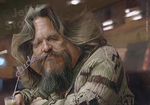 """Jeff Bridges"" como ""El Nota"" por Jeff Stahl"