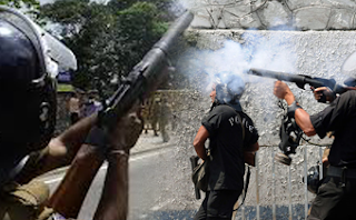 The Police Used Tear Gas At Protest Heroes