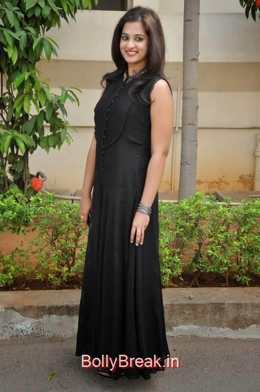 Nanditha Images, Nanditha Hot Pics In Black Dress from Movie Krishnamma Kalipindi Iddarini Shooting Spot