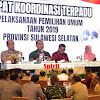 Pemerintah, TNI, Polri Gelar Rakor Bersama Ketua KPU dan Bawaslu di Sulsel Untuk Pemilu 2019