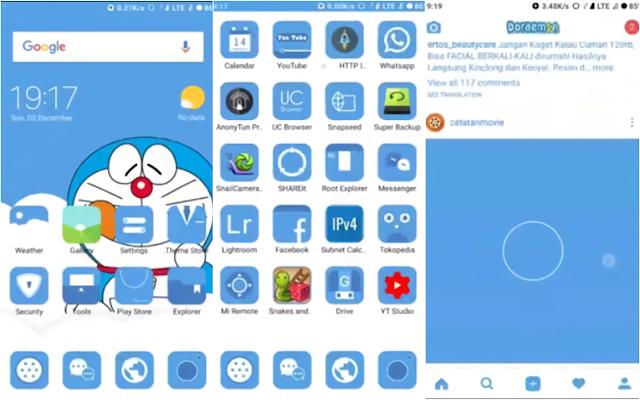 Tema Doraemon Hp Xiaomi Tembus Aplikasi
