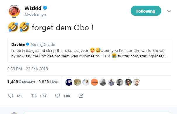 Davido And Wizkid Slam A Fan Who Try To Cause Beef Between Them (Photos)