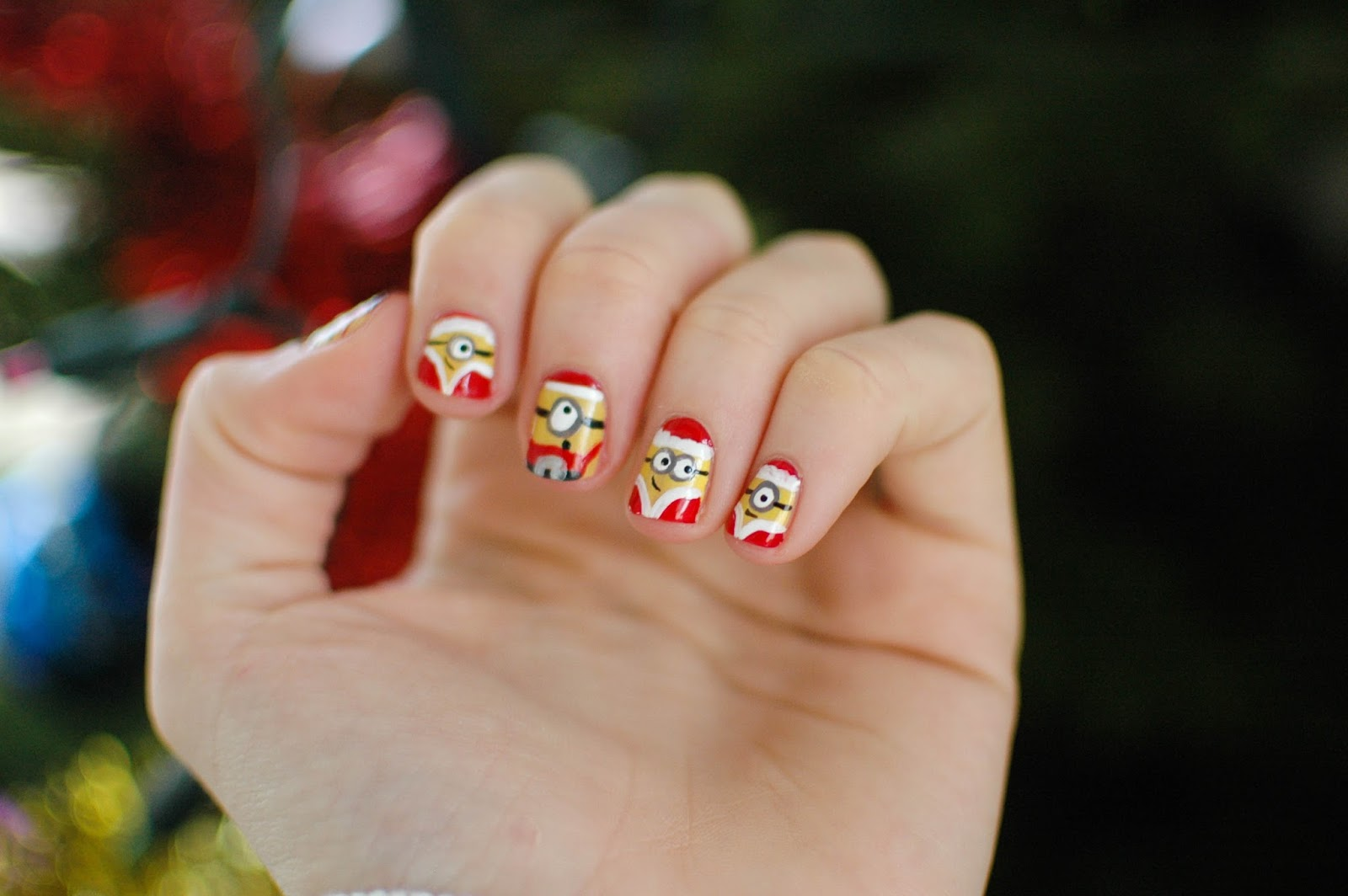 Les minions de no l nail art deerly blog beaut lifestyle geek - Nail art noel facile ...