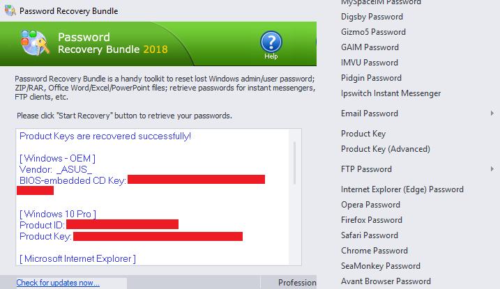 Original License Top Password - Password Recovery Bundle
