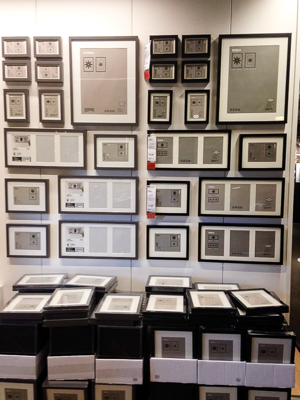 Ikea ribba frames- must buy Ikea item for decorators