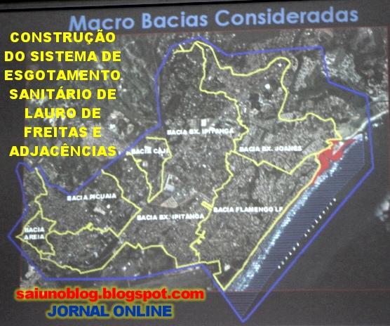 Resultado de imagem para sistema de esgotamento sanitário de Lauro de Freitas