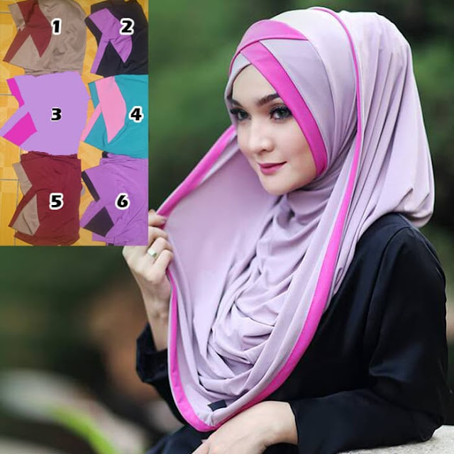 Jilbab INSTAN Hoodie WARNA WARNI Pelangi Zora by Goest
