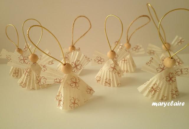 lavoretti natalizi: come creare degli angioletti realizzati con i pirottini di carta!
